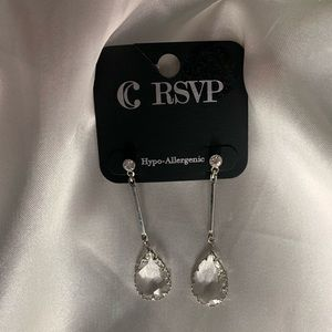NEW‼️Charming Charlie silver and diamond earrings